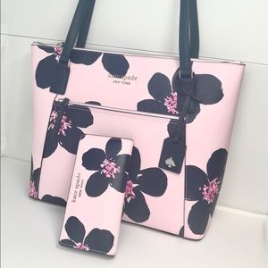 Kate spade grand floral pocket tote and wallet